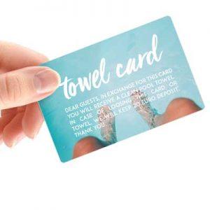 Towel Card plastične kartice